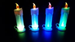 Vela Blanca con Luz LED Grande con Agarradera