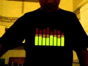 Parche Audioritmico con Luz Led