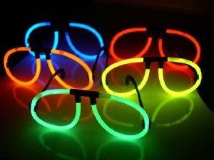 Lentes con luz neon