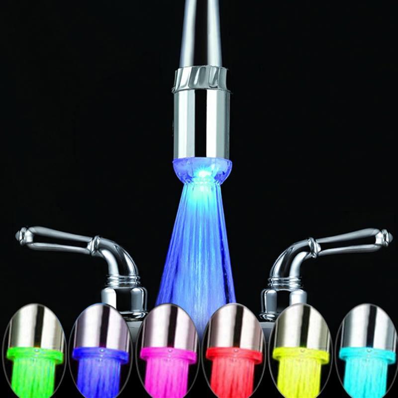 Adaptador para llaves de ba o o cocina con luces led for Llaves con sensor para bano