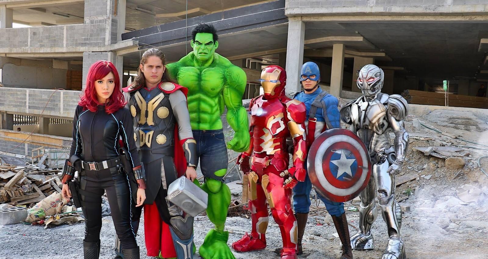 The Avengers: Capitan America, Iron Man, Thor Y Hulk